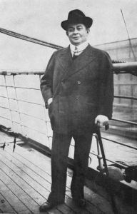 Last known photo Of Charles Frohman taken aboard the Lusitania c. 1915
